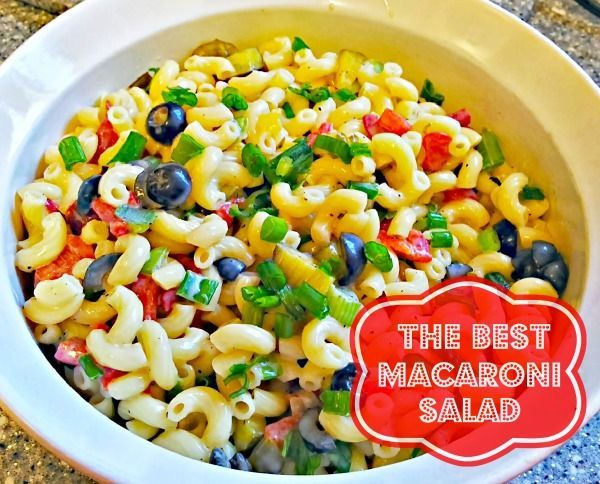The Best Macaroni Salad from Mom Always Finds Out #salad #recipes ...