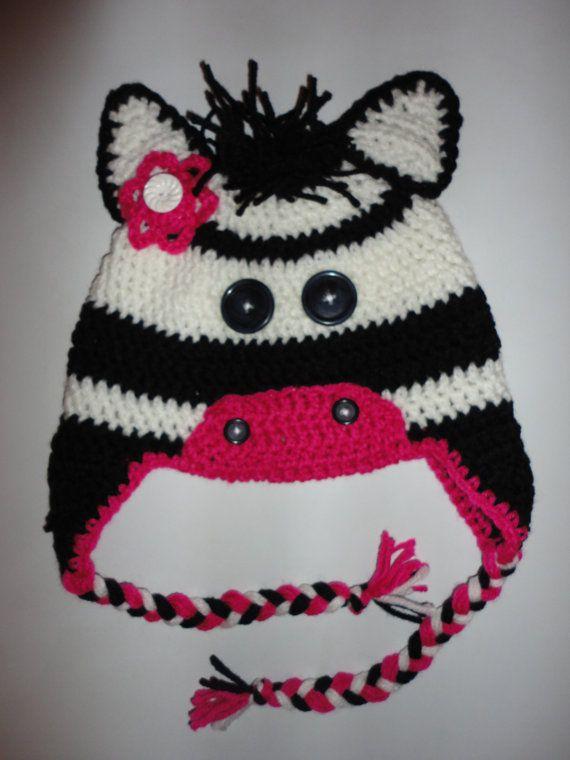 Crochet Zebra Hat : crochet hats