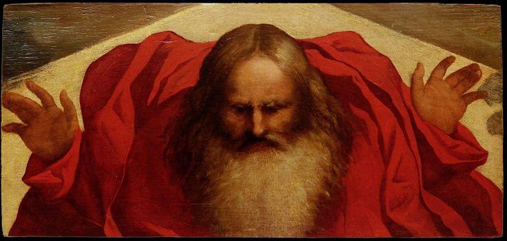 Dio Padre (1527 ca. - 1527 ca.). Lorenzo Lotto, Museo Correr, Venice.