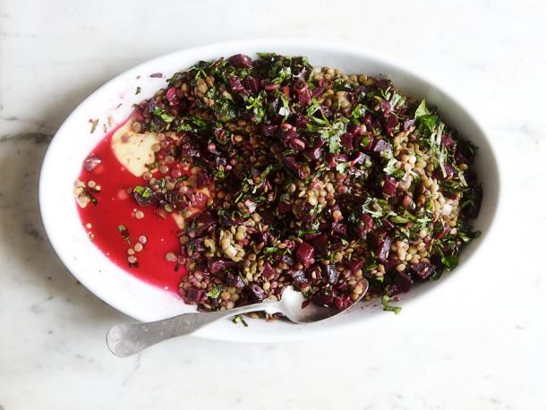Lentils With Roasted Beets. if you buy the beets roasted this would ...