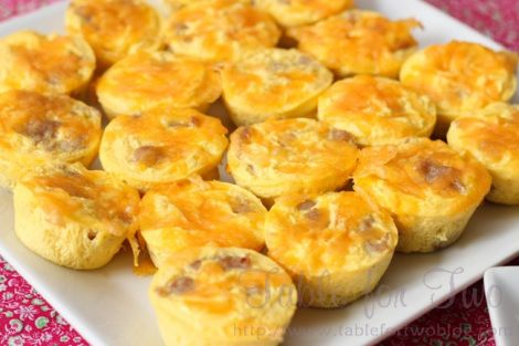 Mini sausage, egg and cheese frittatas | Foodie's Delight | Pinterest