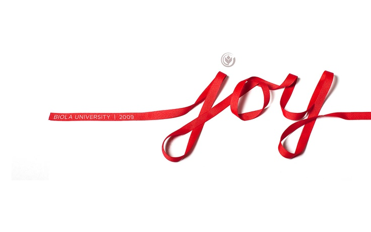 joy cursive ribbon | Christmas | Pinterest