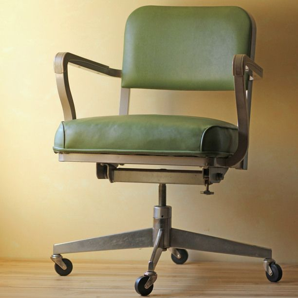 green office chair green vintage modish vintage