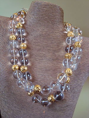 Double Strand Round Crystal Beads with by DesignsbyLynnNovelli, $275.00