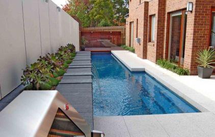 Wonderful pool for narrow yard small yard landscaping pinterest - Narrow pool designs ...