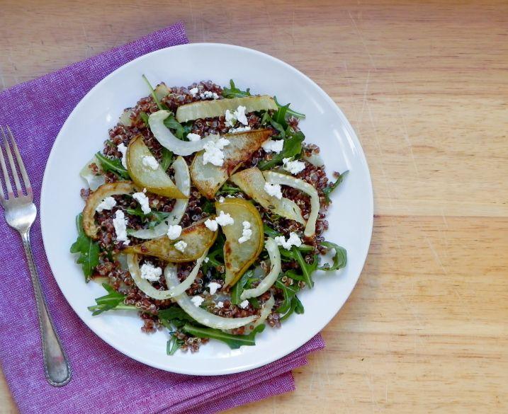 Roasted fennel and pear quinoa salad | Vegan Recipes | Pinterest