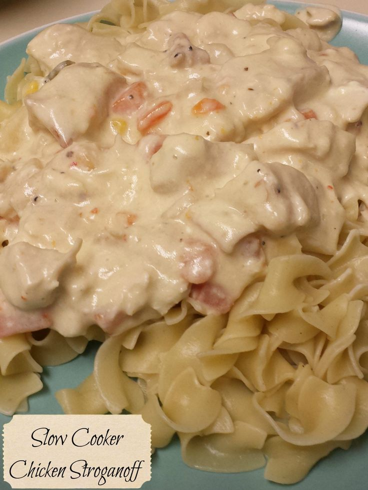 Slow Cooker Chicken Stroganoff - A Thrifty Table