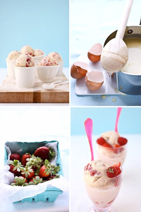 Strawberry and Vanilla Bean Ice Cream Floats :: Cannelle et Vanille