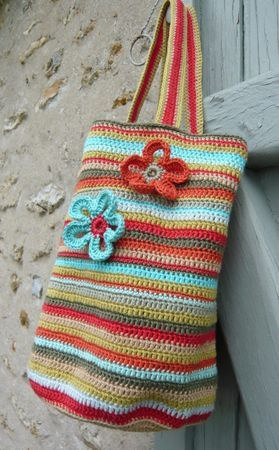 Colours! - crocheted bag
