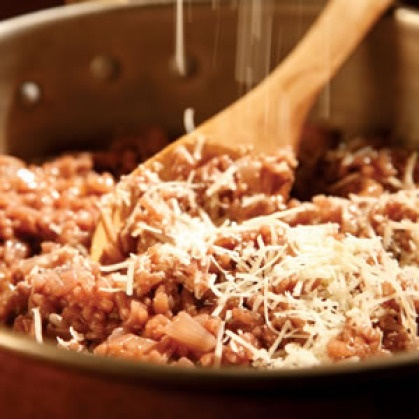 Red wine risotto. | Main and side recipes | Pinterest