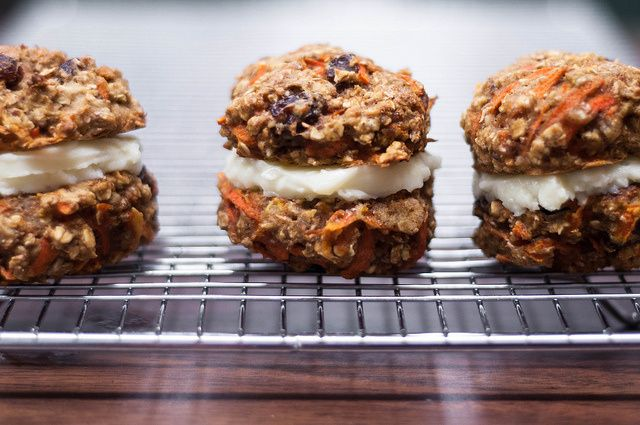 carrot cake cookie-wiches | Sweets | Pinterest