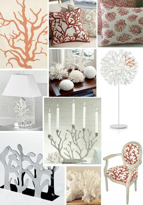 Coral Decor For The Home Virtual Seaside Home Pinterest