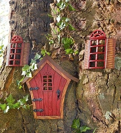 Pinterest for Gnome doors for trees