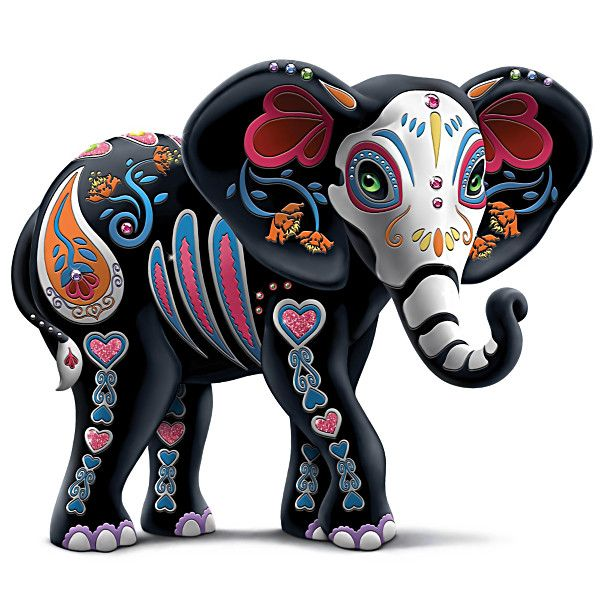 Sugar skull elephants