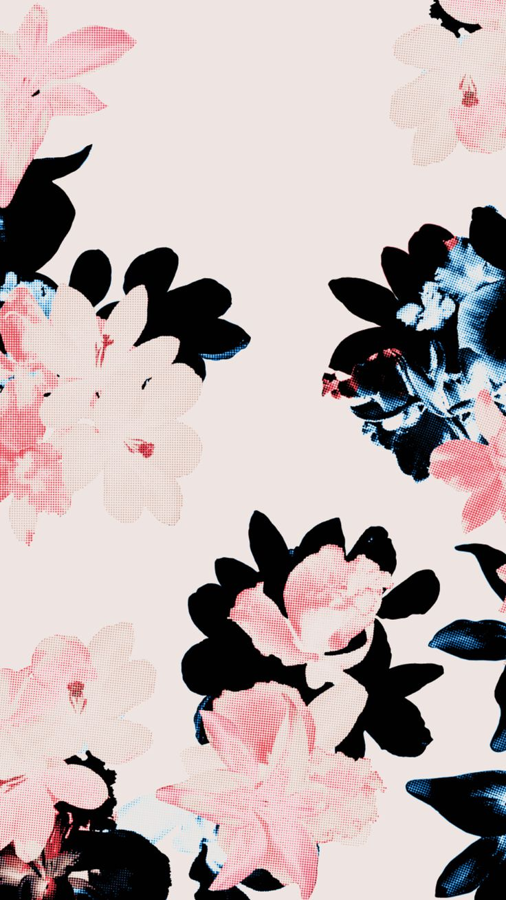 Black floral wallpaper tumblr