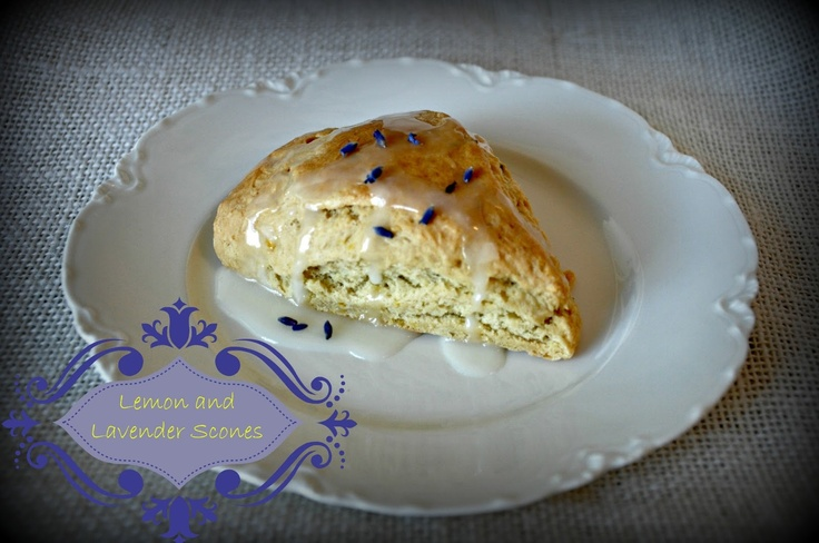 Spring Lemon Lavender Scones with Lemon Glaze by Serendipity Refined