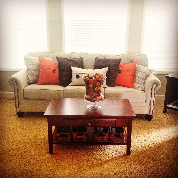 Orange decor living room decor decor i dig pinterest