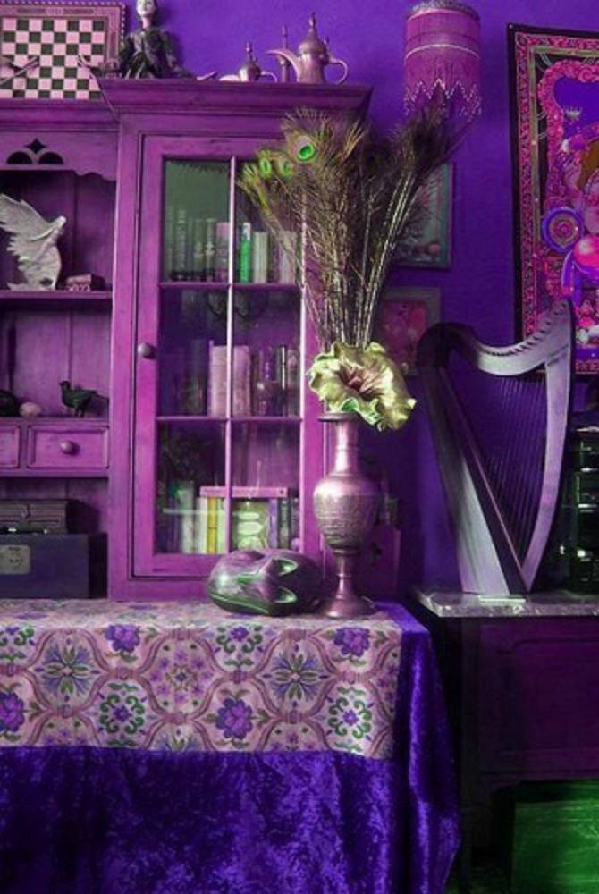 Purplest Room Boho Style Pinterest