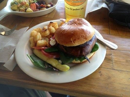"""Shroom"" Burger A portobello marinated in our homemade balsamic ..."