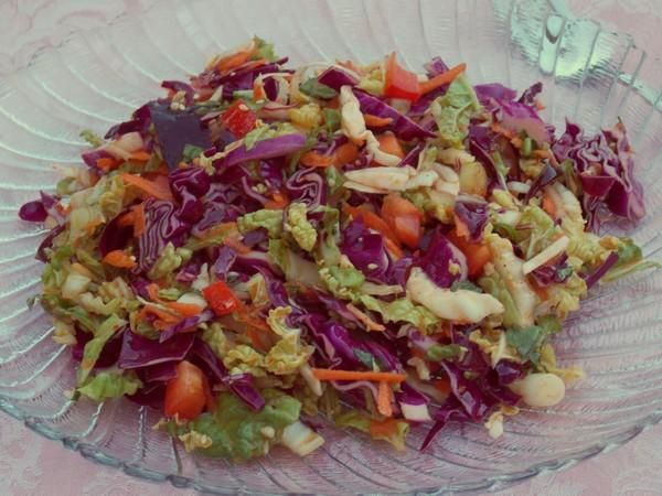 Thai-Style Spicy Cabbage Slaw With Mint And Cilantro Recipe ...
