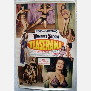 1955 Teaserama With Betty Page vintage movie poster via Fab.