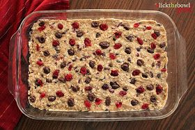 Cranberry Raisinets Oat Bars