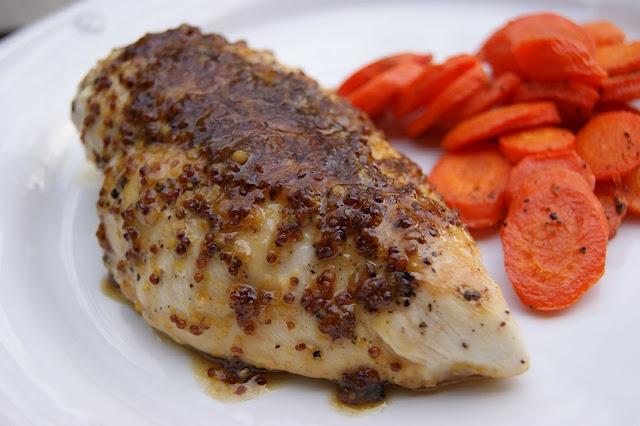 maple-mustard glazed chicken | yum | Pinterest