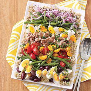 Quinoa Salad Niçoise with Lemon-Caper Vinaigrette | MyRecipes.com