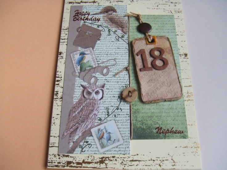 2013 Nephews 18th birthday card Using Kanban distressed foiled card ...