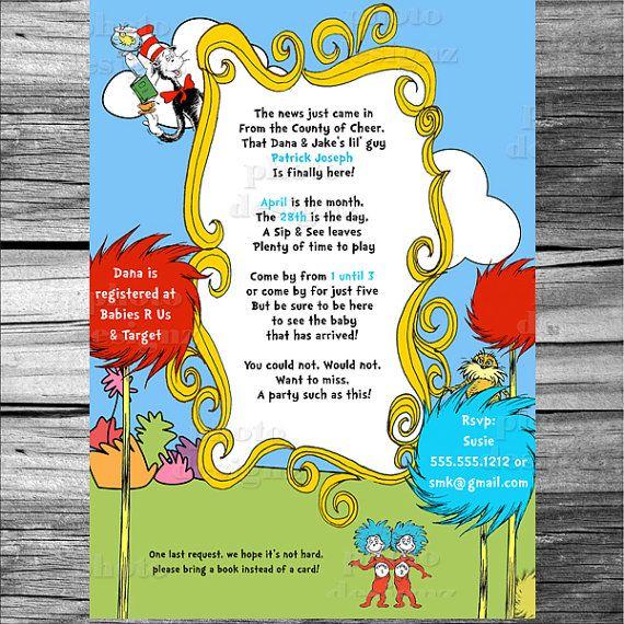 dr seuss sip see baby shower invitation printable invitation design