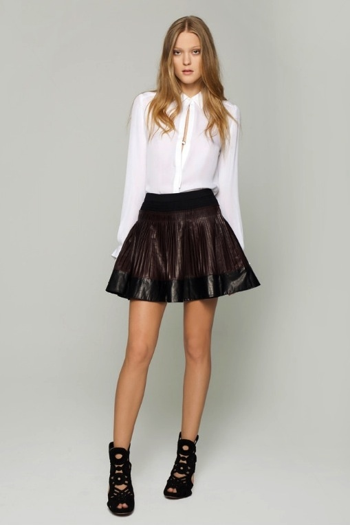 Black Leather Skater Skirt Outfits | black leather skater ...