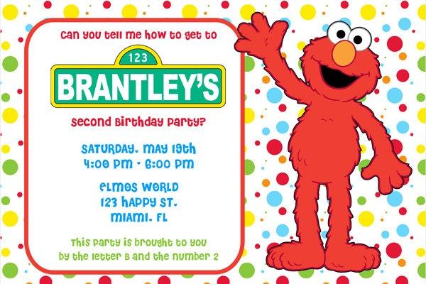 Sesame Street Custom Invitations as good invitations layout