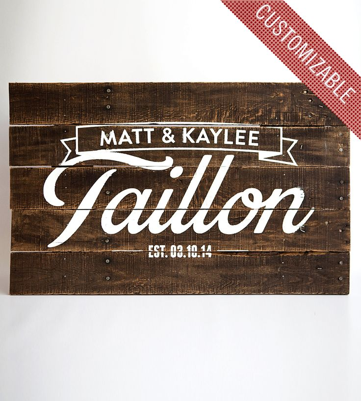 custom family name reclaimed wood sign i love it