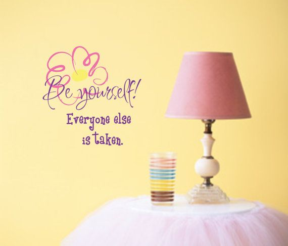Cute Wall Decor Quotes : Girl saying wall decal teen vinyl lettering bedroom decor