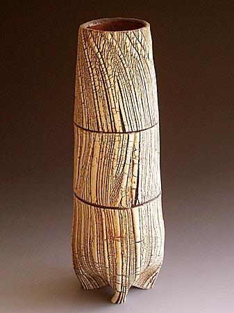 Akira Satake   Vase, stoneware, kohikie glaze