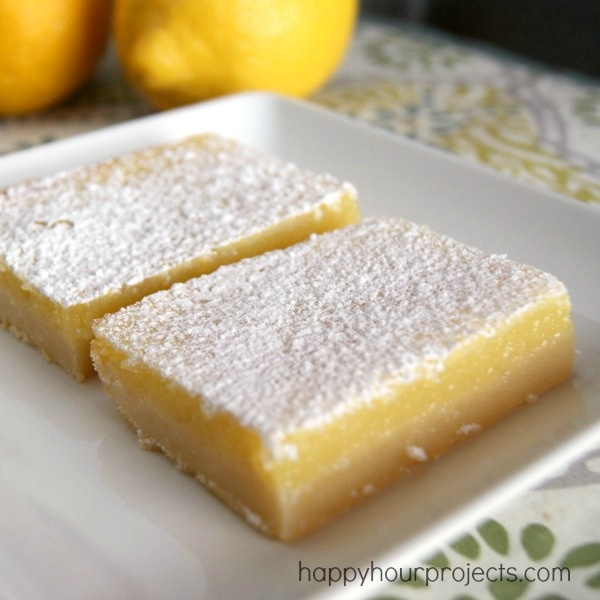 Lemon Pie Bars- These we're great!!! I would definitely cut the ...