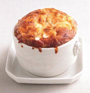 Grits, Cheese, and Onion Soufflés Recipe: Bon Appétit