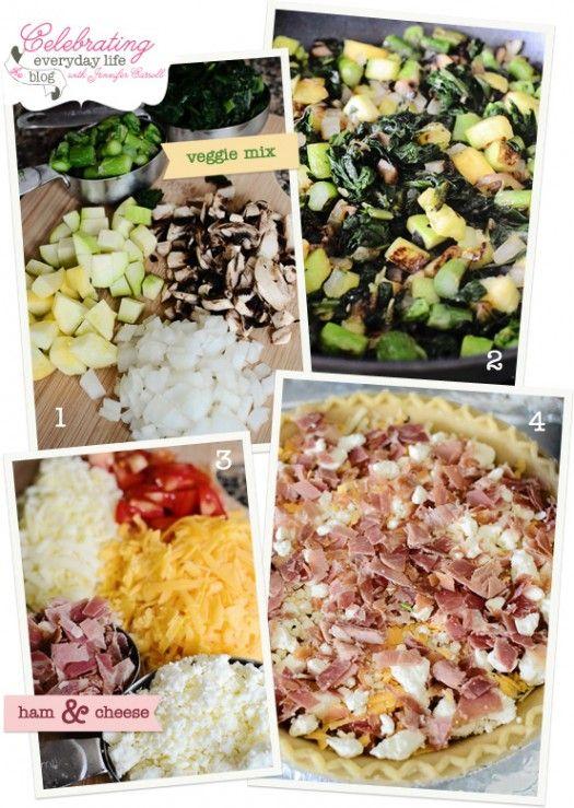 cheese quiche squash blossom quiche with feta basil asparagus spinach ...