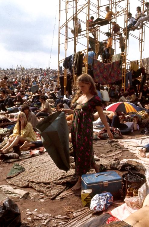 Woodstock 1969. Photo by John Dominis.