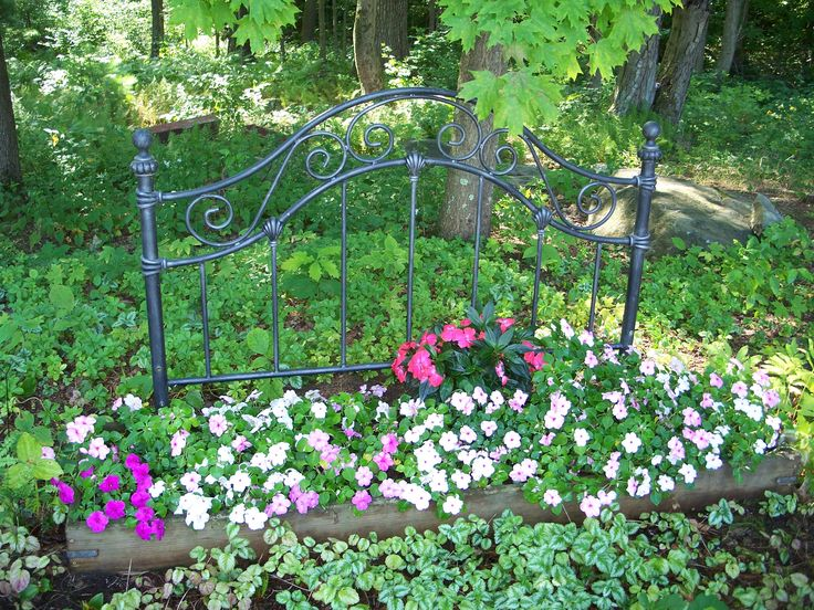 gives new meaning to word flower bed yard garden
