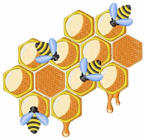 Honey beehive embroidery design needle work pinterest