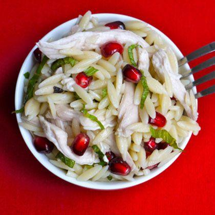 Chicken, Orzo & Pomegranate Salad   Spoonful