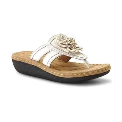 White Embellished Thong Sandal-Shoes-Womens Shoes-Womens Sandals