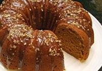 Pumpkin Pound Cake With Maple Pecan Glaze I just made this the other ...