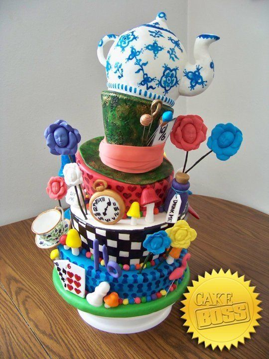 Cake boss- Alice in Wonderland cake