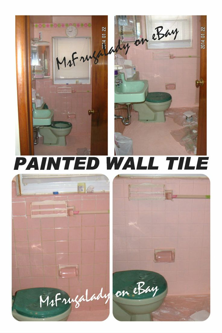 Pin by barbara malone msfrugalady frugal on my for Bathroom tile paint