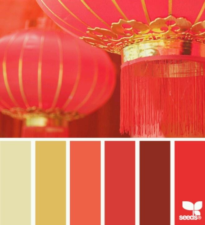 Chinese lanterns color palettes for inspiration pinterest for Oriental colour palette