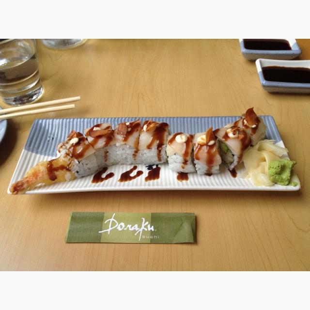 White Dragon Roll at Doraku SushiWhite Dragon Roll