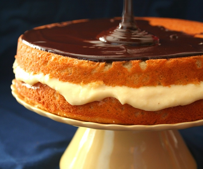 Boston Cream Pie (Low Carb and Gluten Free) | All Day I Dream About ...