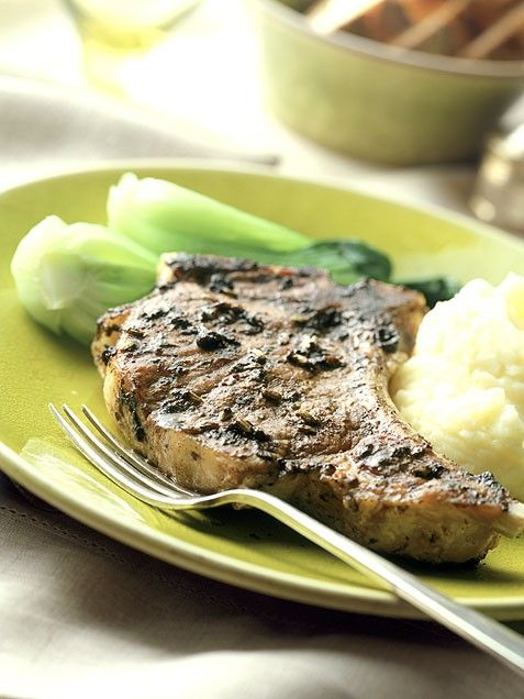 Pork Chops with Maple-Mustard Sauce. Need to try this one: sounds easy ...